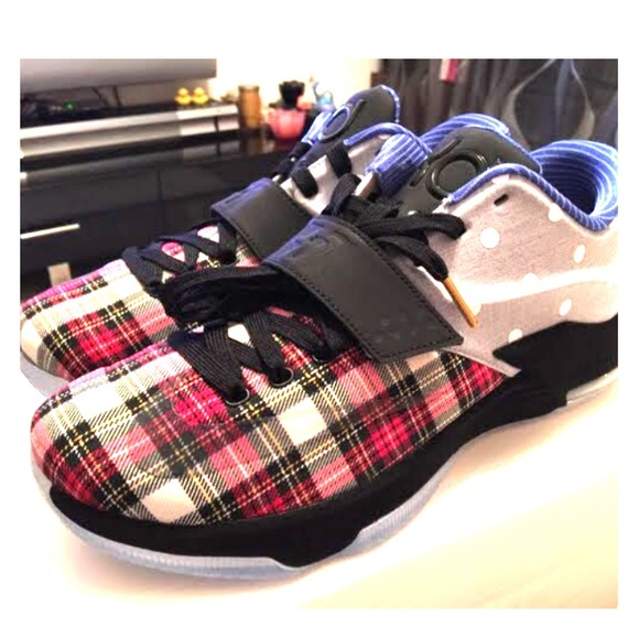 4a9e75a6f8e0 NEW NIKE KD EXT Plaid Polka Dots basketball shoes